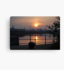 Dockland Reflections Canvas Print