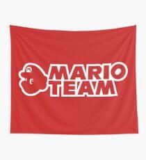 Mario Team Wall Tapestry