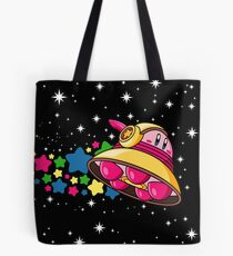 Kirby in Outer Space Tote Bag