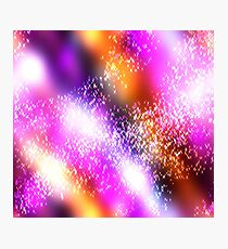 Psychedelic Glittery galaxy.  Smoke effects, Photographic Print
