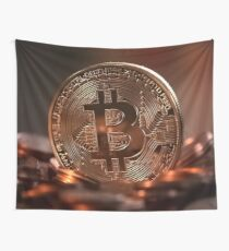Bitcoins (Cryptocurrency) Wall Tapestry