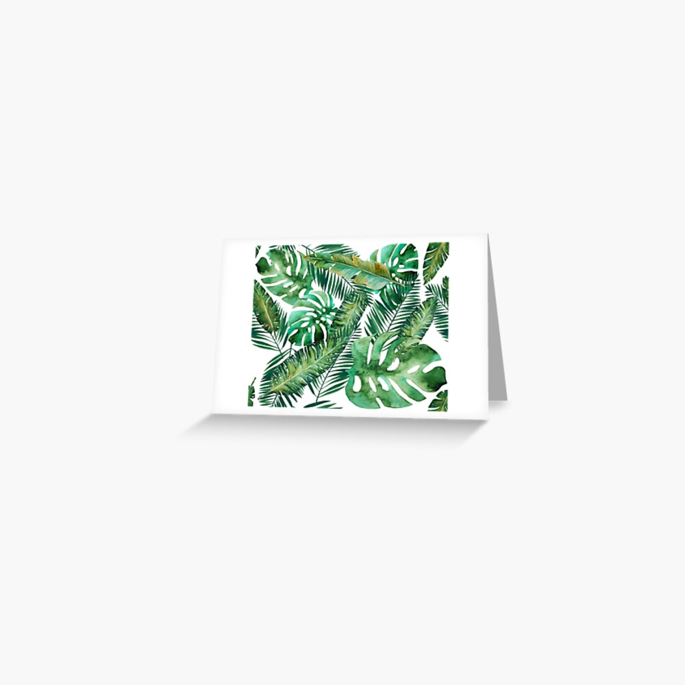 Monstera Banana Palm Leaf Greeting Card