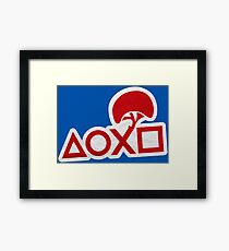 PlayStation Button Icons LBP Style Framed Print