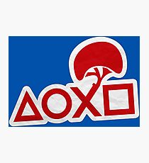 PlayStation Button Icons LBP Style Photographic Print
