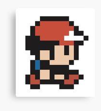 Ash Ketchum - Pokemon - Pixel Canvas Print