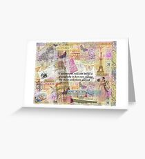 Jane Austen travel adventure quote Greeting Card