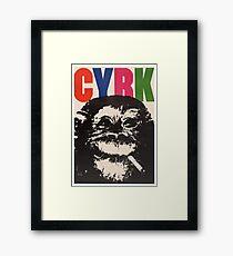 1964 Cyrk Smoking Chimpanzee Polish Circus Poster Framed Print