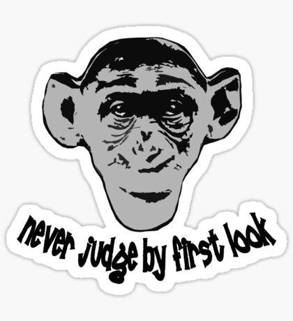 Monkey t-shirt Sticker