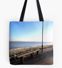 Southwold beach viewpoint Tote Bag