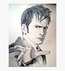 The Tenth Doctor Sketch Photographic Print