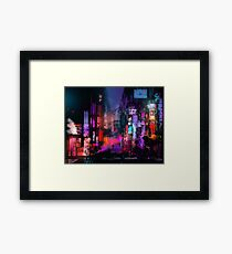 Unleashed at Night Framed Print