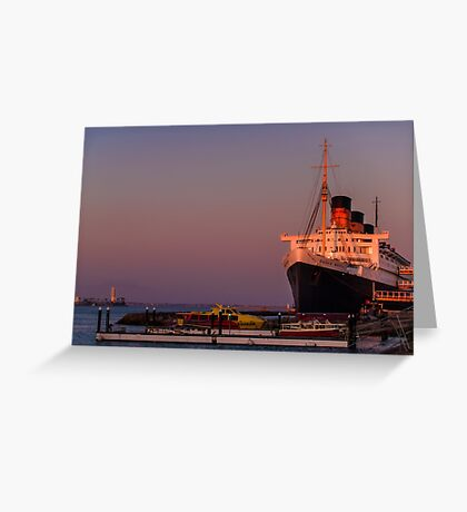 Queen Mary at sunset Greeting Card