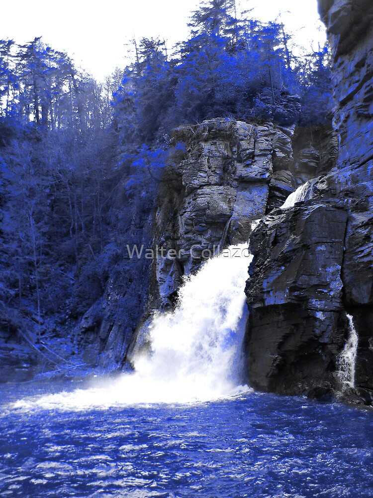 Icy Blue Falls by Walter Collazo