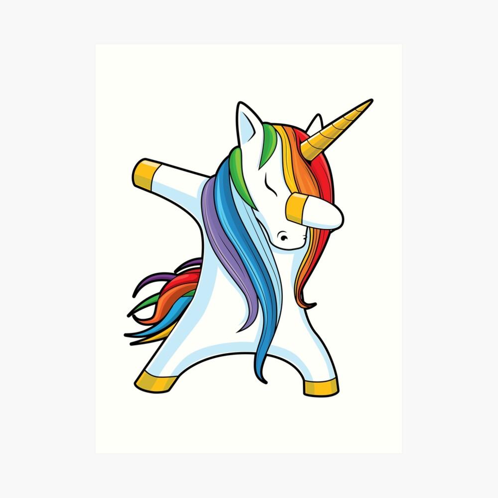 Dabbing Unicorn Shirt Cute Funny Unicorns T shirt Gifts for Kids Girls Boys Women Men Art Print