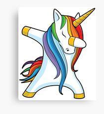 Unicorn Dabbing - Dab Dance Tshirt Canvas Print