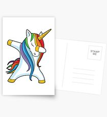 Dabbing Unicorn Shirt Cute Funny Unicorns T shirt Gifts for Kids Girls Boys Women Men Postcards