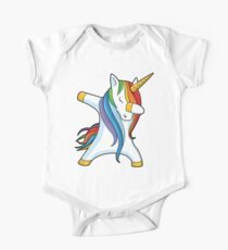 Dabbing Unicorn Shirt Cute Funny Unicorns T shirt Gifts for Kids Girls Boys Women Men One Piece - Short Sleeve