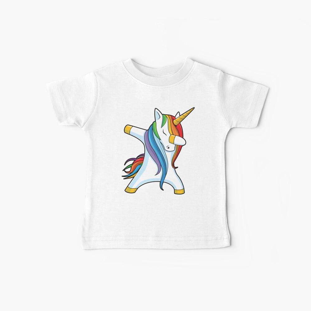Abtupfendes Einhorn-Hemd Nettes lustiges Einhörner-T-Shirt Geschenke für Kindermädchen-Jungen-Frauen-Männer Baby T-Shirt