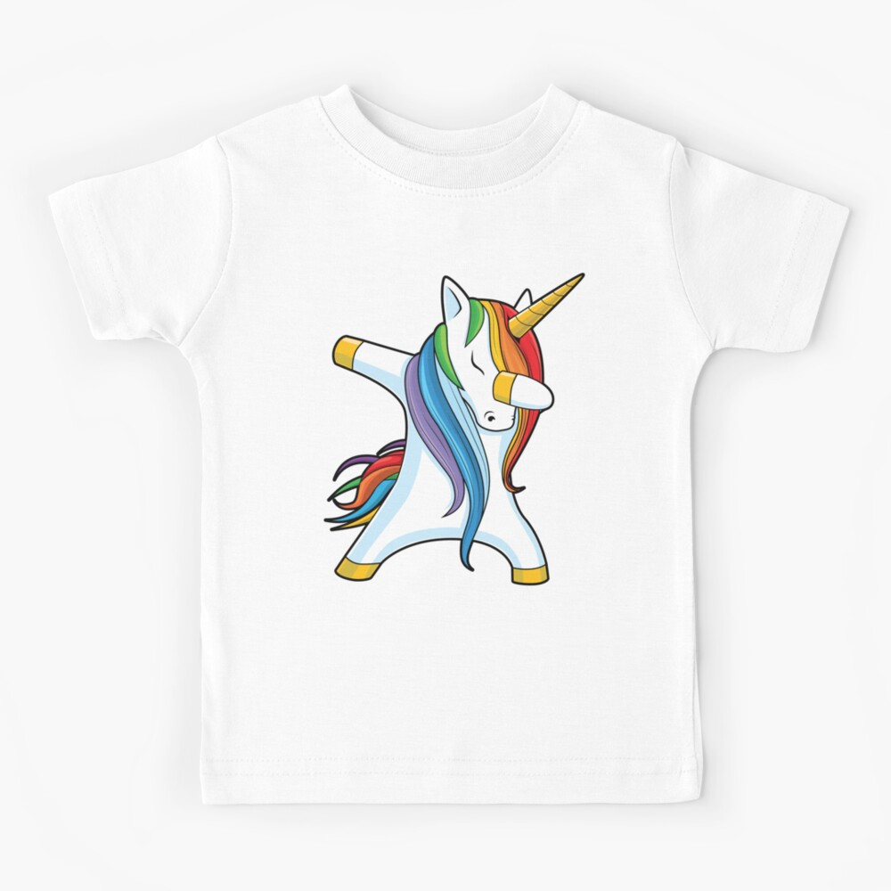 Dabbing Unicorn Shirt Cute Funny Unicorns T shirt Gifts for Kids Girls Boys Women Men Kids T-Shirt