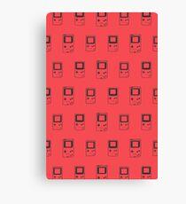 Minimal Gameboys (radiant red) Canvas Print