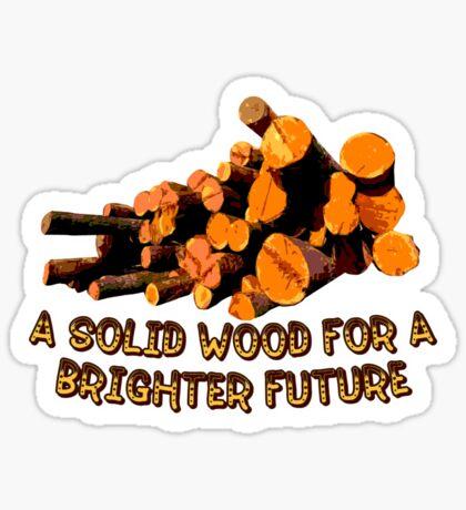 Wood t-shirt Sticker