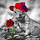 Red Hatter Squirrel by Doreen Erhardt