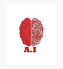Artificial Intelligence Human Brain  Photographic Print