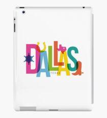 Dallas City Typography Collage iPad Case/Skin