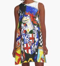 crest A-Line Dress