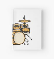 Pixel Led Wood Drums Hardcover Journal