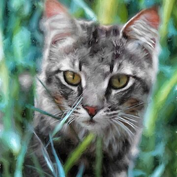 Cat in the Grass by SalonOfArt