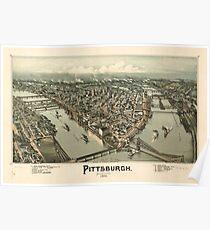 Panoramic Maps Pittsburgh Pennsylvania 1902 Poster