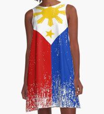 Vestido acampanado Orgullo de la bandera de Filipinas