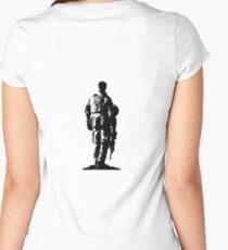 Australian Soldier Sketch Women's Fitted Scoop T-Shirt