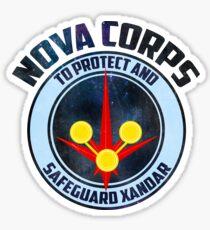 nova corp - to serve and protect  Sticker