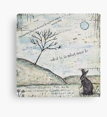 Watership Down Encaustic Canvas Print