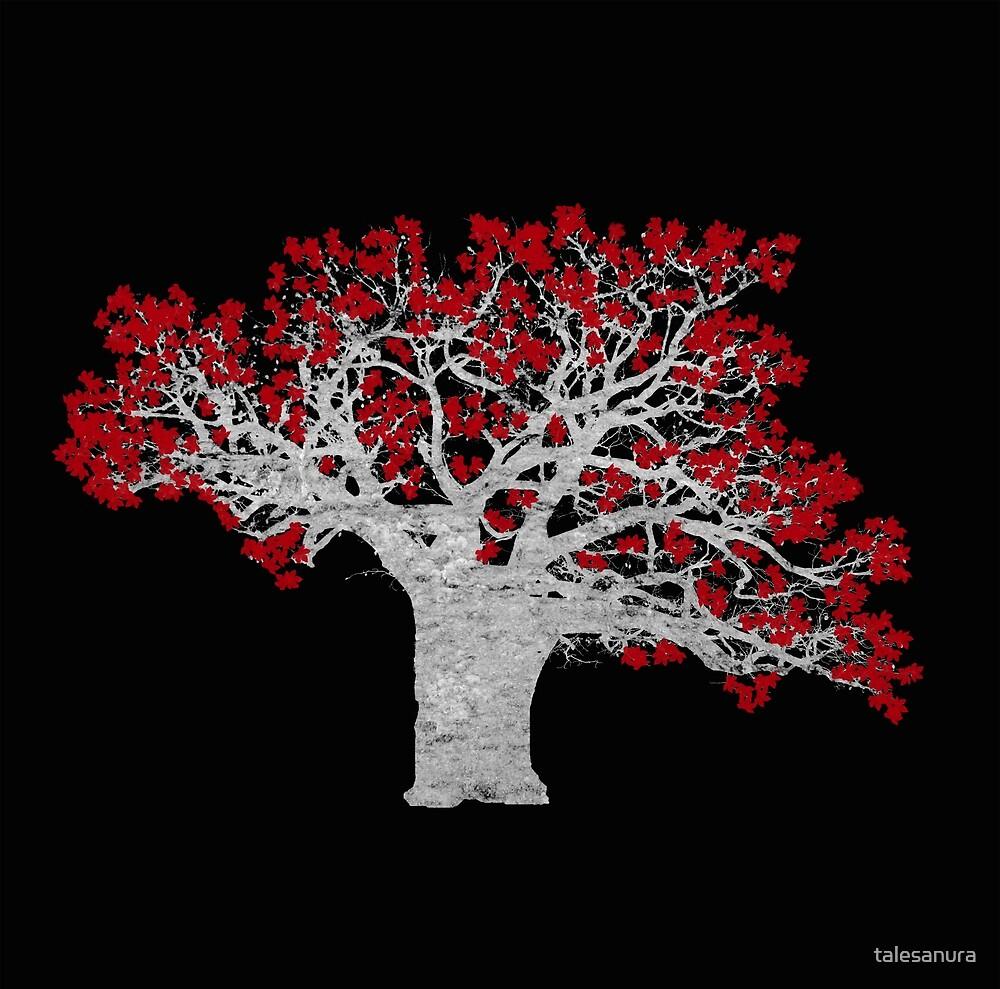 Crimson Tree by talesanura