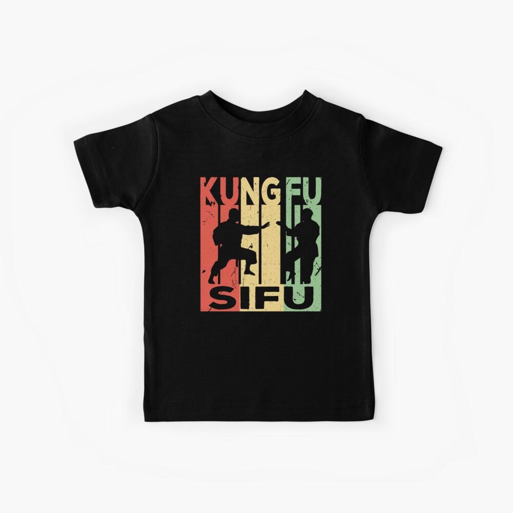 Kung Fu Sifu Vintage Retro Kinder T-Shirt
