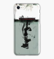 Ship boat spill sea ocean iPhone Case/Skin