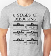 6 Stages Of Debugging Computer Programming T-Shirt