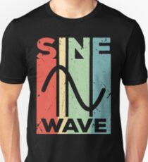 Sine Wave Audio Vintage Retro Unisex T-Shirt