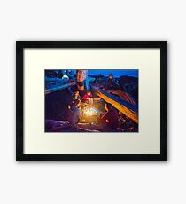 Camping with Friends - Rialto Beach, Washington Framed Print