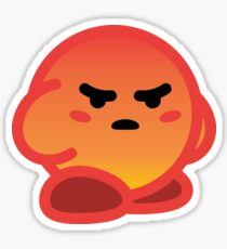 Angry React Kirby Sticker