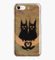 lunar cats iPhone Case/Skin