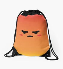 Angry React Kirby Drawstring Bag