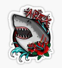 APEX PREDATOR (GREAT WHITE SHARK) WITH ROSES Sticker