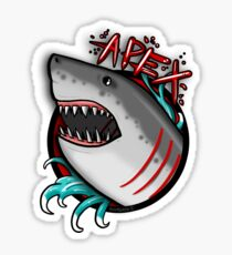 APEX PREDATOR (GREAT WHITE SHARK) WITHOUT ROSES Sticker