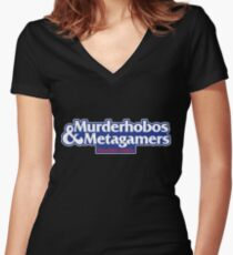 Murderhobos & Metagamers Women's Fitted V-Neck T-Shirt