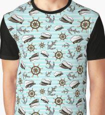 Nautical Seamless Pattern Graphic T-Shirt