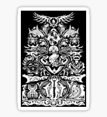 Warrior Tatau (White Version) Sticker